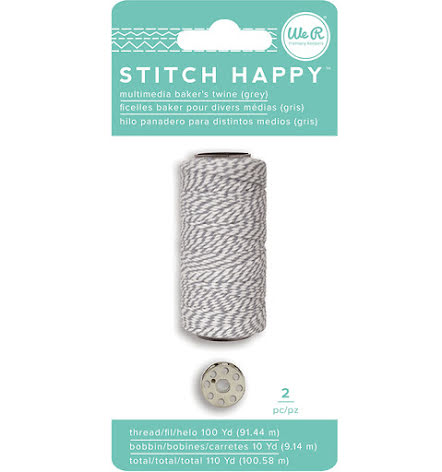We R Memory Keepers Stitch Happy Twine - Gray