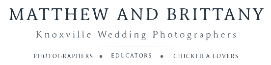 Knoxville Wedding Photographers Matthew and Brittany