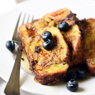 Chocolate Challah French Toast.