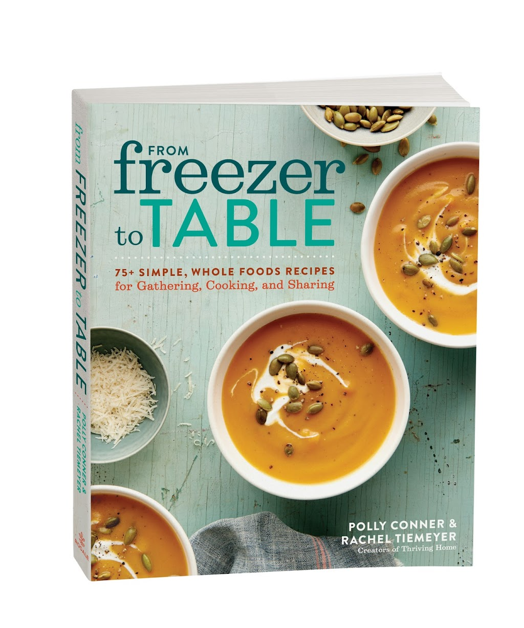 In from Freezer to Table, Rachel and Polly share the ultimate guidebook for transforming the way your family cooks, eats, and freezes. The chapters are packed with freezer cooking basics, practical tips for Freezer Cooking Parties or Freezer Clubs, and plenty of motivation and tools to make freezer cooking second nature in your home. With their 75+ simple, family-friendly recipes―all made from whole food ingredients―anyone can stock their freezer with wholesome favorites, like mixed berry scones, homemade chicken tenders, and slow-cooker carnitas. From Freezer to Table will help you reclaim your kitchen from unhealthy processed foods, while simultaneously saving your wallet, your waistline, and your time.