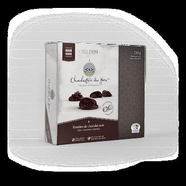 Chocolat Rosettes de chocolat noir Boîtes