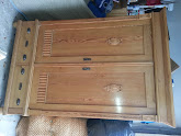 Photo: EARLY AMERICAN ANTIQUE PINE SPRUCE ARMOIRE  WARDROBE LOCKING WOODEN CABINET W/ KEY