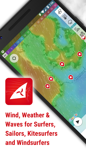 Windfinder - weather & wind forecast Android App Screenshot