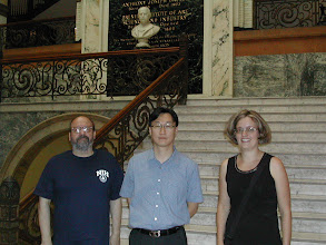 Photo: Our collaborators, Dr. Kohidai (left) and Dr. Lang (right) from Semmelweis University in Hungary, visited BAST lab and took a picture in the Drexel Main Building on August 31, 2010