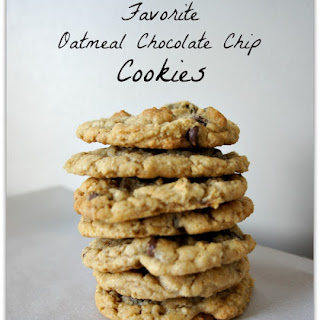 My Favorite Oatmeal Chocolate Chip Cookies