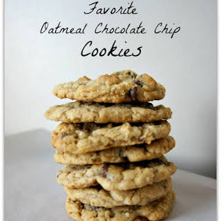 My Favorite Oatmeal Chocolate Chip Cookies.