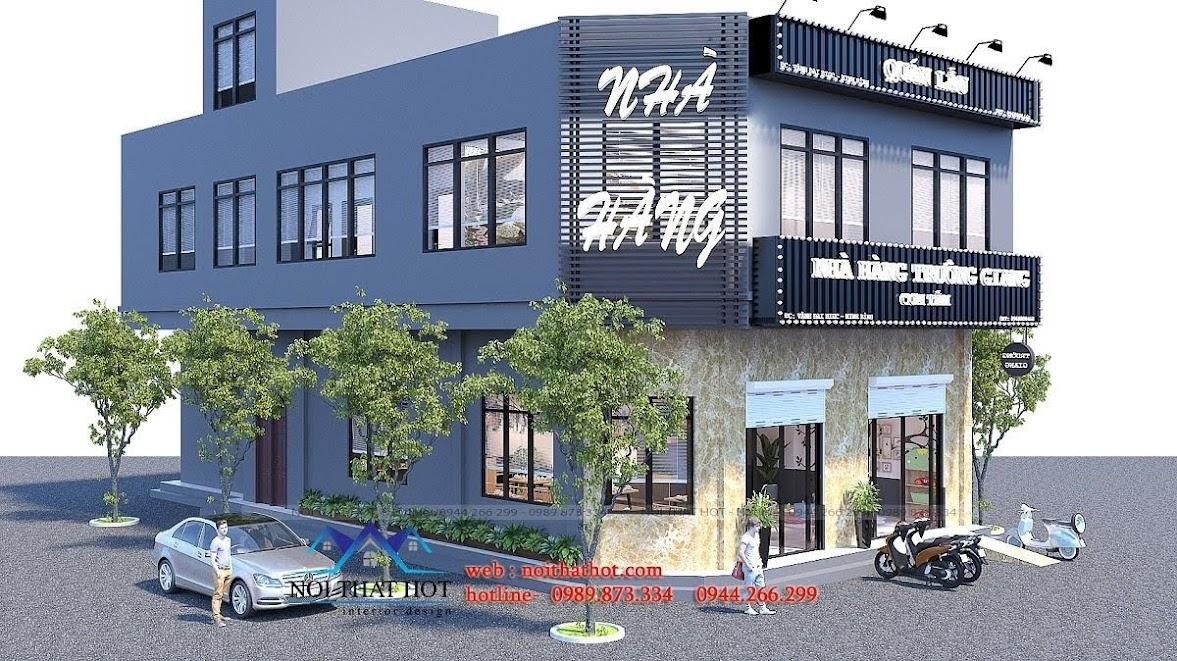 thiết kế nhà hàng dẹp, giá hợp lý 9