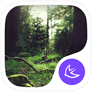 Green Fairy Tale Forest theme & wallpapers