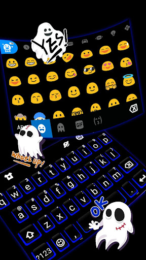 Blue Black Keyboard Theme 1.0 screenshots 3