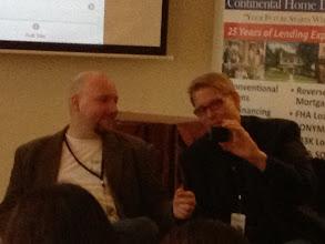 Photo: Patrick and Stephen talking Google Voice