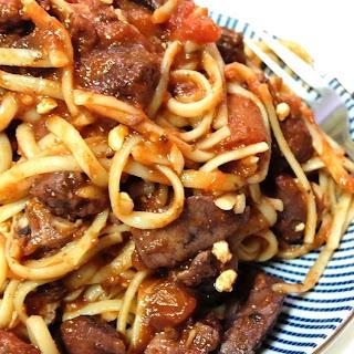 Red Wine-Tomato Pasta.