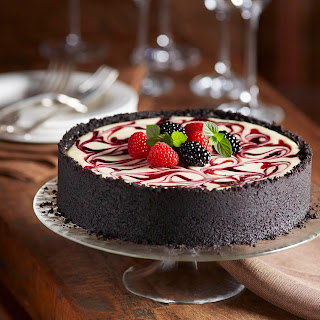 Blackberry and Raspberry Swirl Cheesecake Recipe