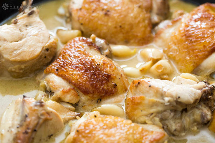 Garlic Chicken with White Wine Sauce Recipe | Yummly
