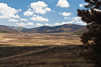 Photo: The grass land in the Valles Caldera was badly burnt