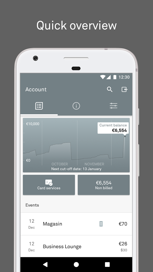 Eurocard International- screenshot