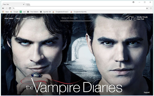 The Vampire Diaries HD Wallpapers New Tab