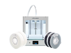 Ultimaker 2+ Connect, 50% Off Filament Basic Pack, 2 Year Warranty