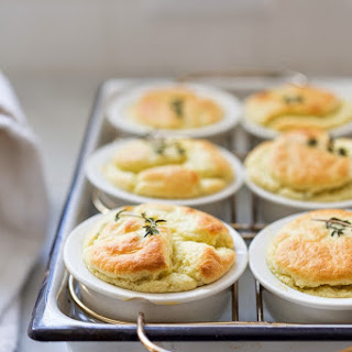 Artichoke Souffle w/ Goat Cheese and Thyme