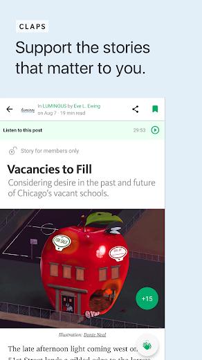 Screenshot 4 for Medium's Android app'