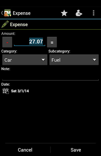 Expenses Recorder - Easy and fast finance tracker - screenshot