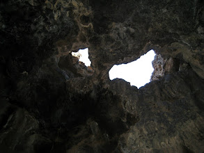 Photo: Inside the lava cave