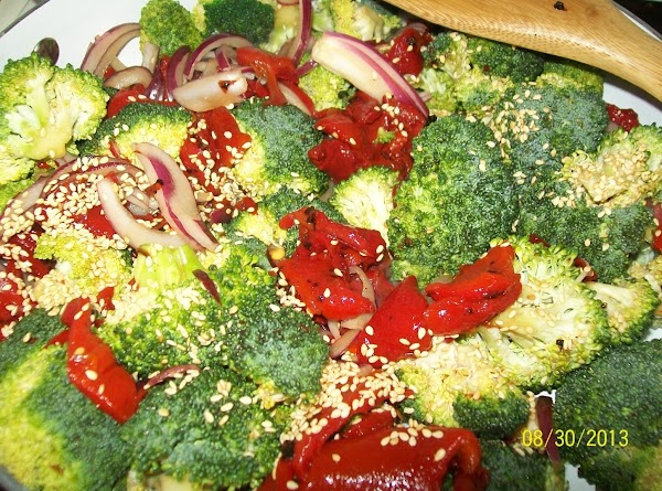 Add the sesame seeds and cook just long enough to cook the broccoli but...