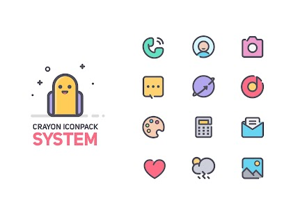 Crayon Icon Pack 1