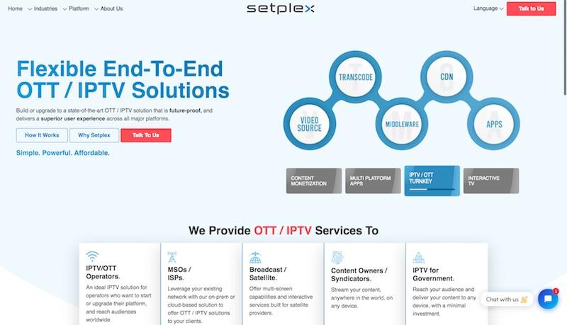 Setplex Homepage
