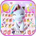 Rainbow Unicorn Smile Keyboard Theme icon
