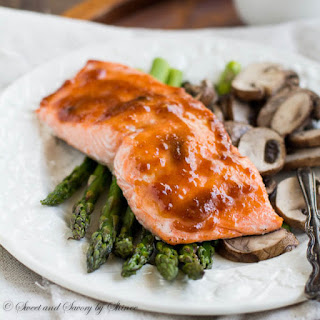 One Sheet Spicy Apricot Baked Salmon