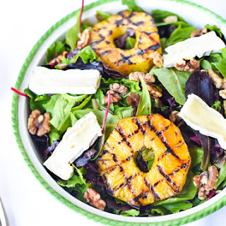 WARM GRILLED PINEAPPLE AND BRIE SALAD