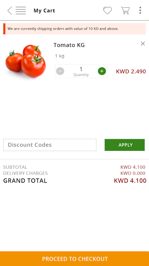 TSC Online Grocery Shopping- screenshot