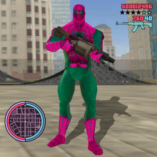 Amazing Spider Rope Hero Ninja Strange Crime