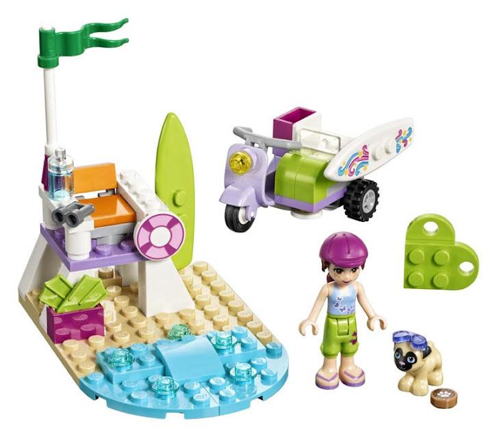 Contenido de Lego® 41306 Moto Playera de Mia