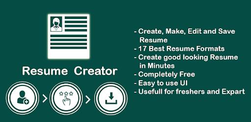 resume creator - phone pdf creator