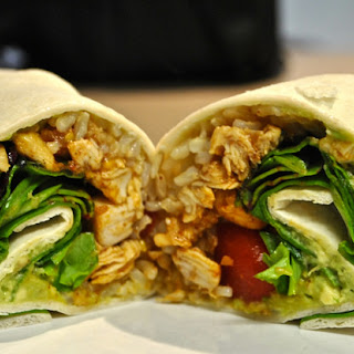 Healthy Chicken Burrito Wrap