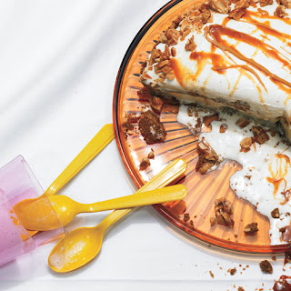 Peanut Brittle and Caramel Crunch Ice Cream Pie