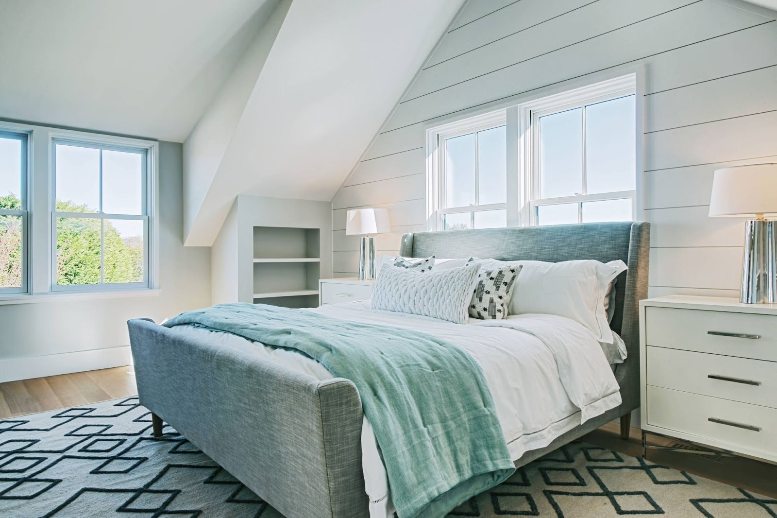 Beach Themed Bedroom with some Shiplap