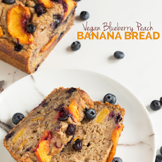 1 Bowl Blueberry Peach Vegan Banana Bread