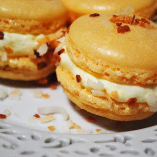 Coconut Cream French Macarons.