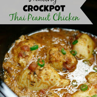 Healthy Crockpot Thai Peanut Chicken