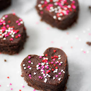 Heart Shaped Brownies.