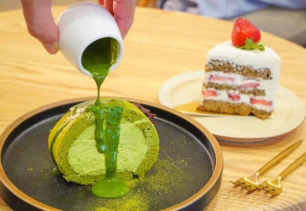 隱藏版鹽埕小巷甜點店~限量超療癒抹茶生乳捲-存在甜點