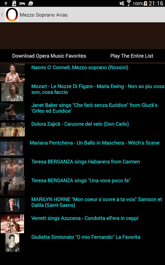Opera Music- screenshot