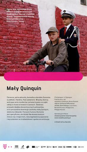 Tył ulotki filmu 'Mały Quinquin'