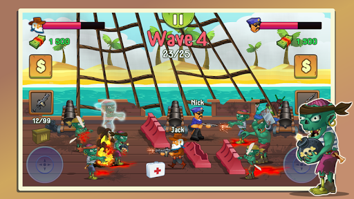 Two guys & Zombies (two-player game) android2mod screenshots 3