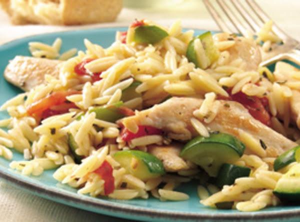 Mediterranean Chicken With Rosemary Orzo Recipe