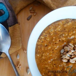 Creamy Sunflower Pumpkin Spice Oatmeal (Paleo, Gluten-Free)