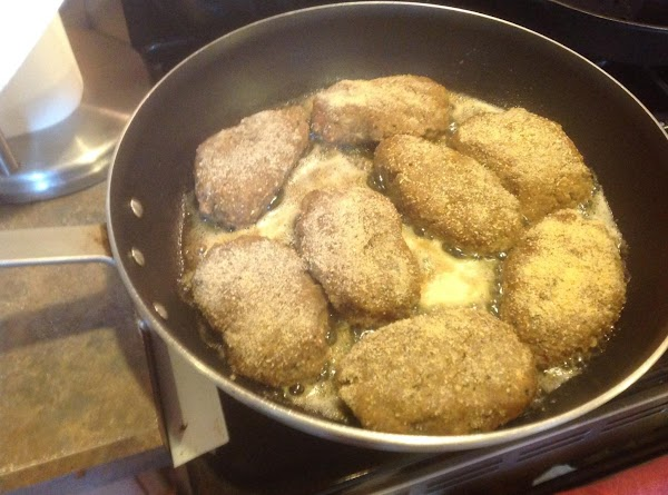 Add Salisbury steaks and brown on each side over medium high heat. Then remove...