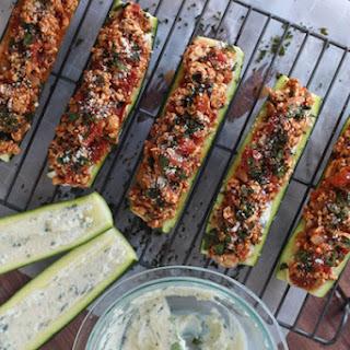 Lasagna Stuffed Zucchini Boats Recipe
